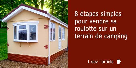 roulotte vendre sur un terrain de camping. Black Bedroom Furniture Sets. Home Design Ideas